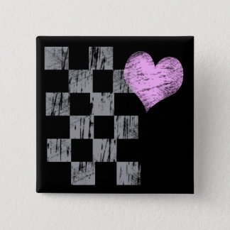 Scratched Heart Button