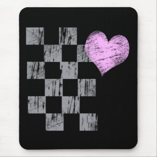 Scratched Heart Mouse Pad