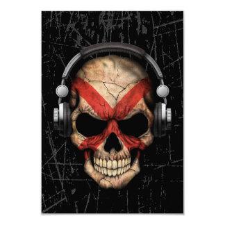 Scratched Northern Ireland Dj Skull 3.5x5 Paper Invitation Card