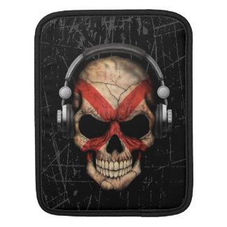 Scratched Northern Ireland Dj Skull iPad Sleeve