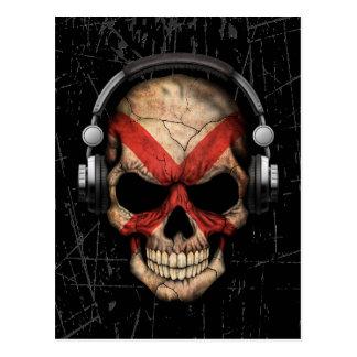 Scratched Northern Ireland Dj Skull Postcard