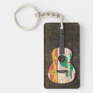 Scratched Prince Edward Island Acoustic Guitar Acrylic Keychain