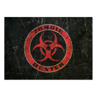 Scratched Red and Black Bio Hazard Zombie Hunter Large Business Cards (Pack Of 100)