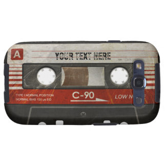 Scratched Retro Compact Audio Cassette Case Samsung Galaxy S3 Covers
