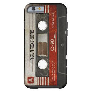 Scratched Retro Compact Audio Cassette Case Tough iPhone 6 Case