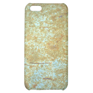 Scratched, Rusted Blue Paint. iPhone 5C Cases