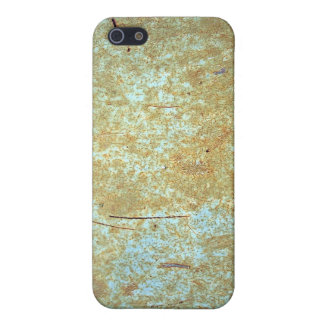 Scratched, Rusted Blue Paint. iPhone 5 Covers