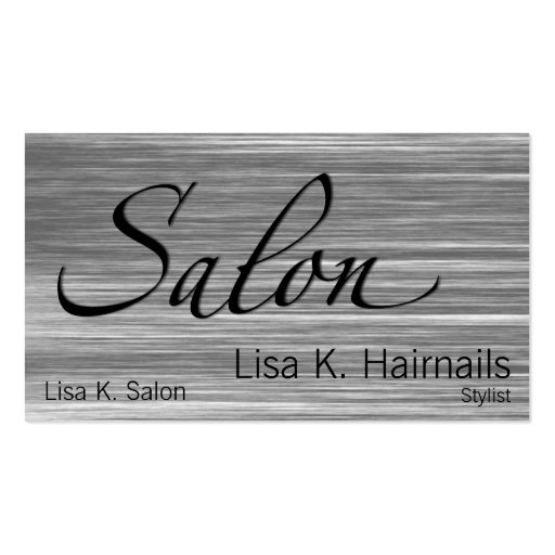 Scratched Salon Double-Sided Standard Business Cards (Pack Of 100)