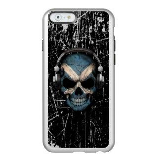 Scratched Scottish Dj Skull with Headphones Incipio Feather® Shine iPhone 6 Case