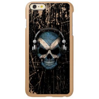 Scratched Scottish Dj Skull with Headphones Incipio Feather® Shine iPhone 6 Plus Case