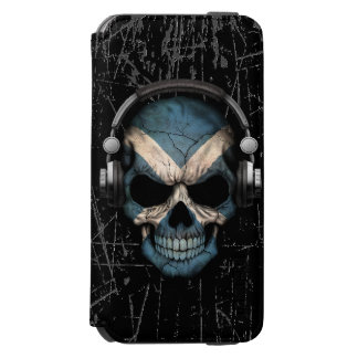 Scratched Scottish Dj Skull with Headphones Incipio Watson™ iPhone 6 Wallet Case