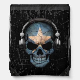 Scratched Somali Dj Skull with Headphones Backpack