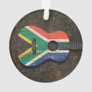 Scratched South African Flag Acoustic Guitar