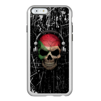 Scratched Sudanese Dj Skull with Headphones Incipio Feather® Shine iPhone 6 Case