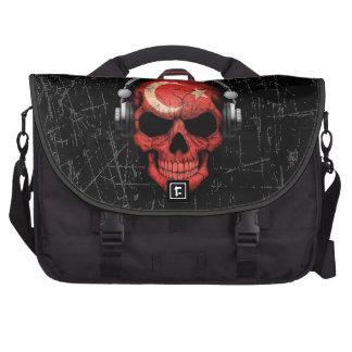 Scratched Turkish Dj Skull with Headphones Bag For Laptop