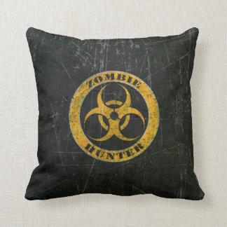 Scratched Yellow Bio Hazard Zombie Hunter Pillows