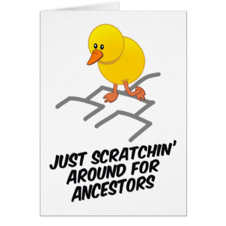 Scratchin alrededor tarjeta de felicitación