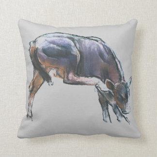 Scratching Calf 2006 Throw Pillow