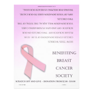 ScratchOffGive Breast Cancer Fundraising Brochure