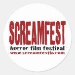 scratchy logo sticker