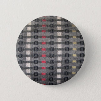 scratchy old train fabric pinback button
