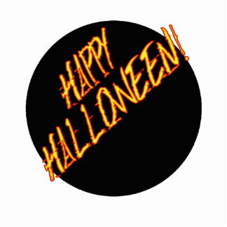 Scratchy Yellow Red Halloween Text Image Photo Cutout