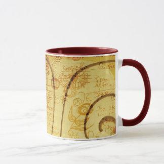 Scrawl design mug