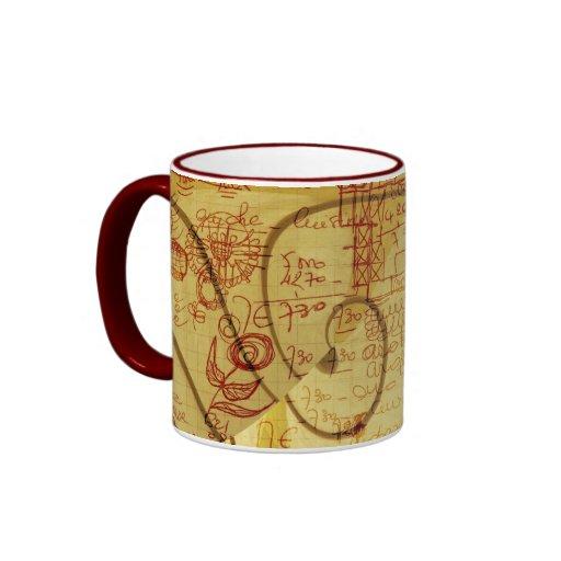 Scrawl design ringer mug