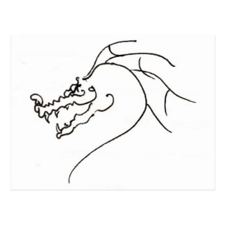Scrawl Dragon Postcard