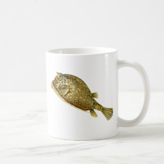 Scrawled cowfish coffee mug
