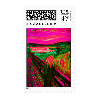 Scream 41 postage stamp