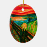 Scream 42 Double-Sided oval ceramic christmas ornament