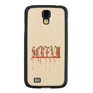 SCREAM Bloody Halloween Carved® Maple Galaxy S4 Slim Case