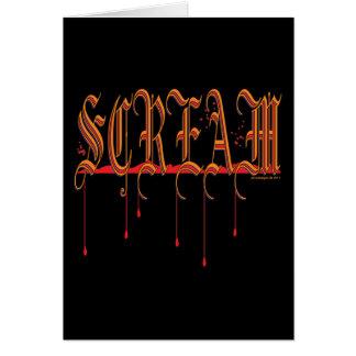 SCREAM Bloody Halloween Card