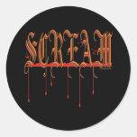 SCREAM Bloody Halloween Classic Round Sticker