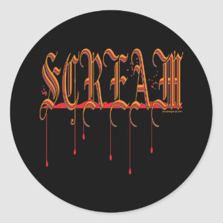 SCREAM Bloody Halloween Classic Round Sticker