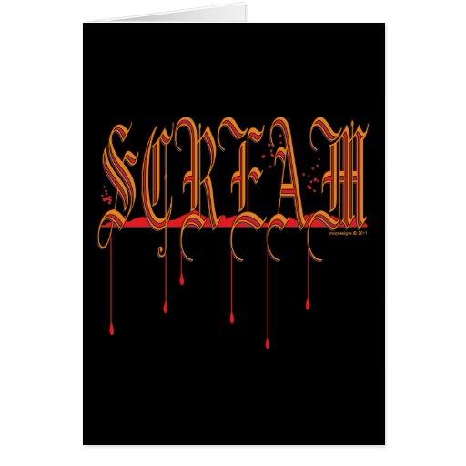 SCREAM Bloody Halloween Greeting Card