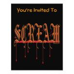 "SCREAM Bloody Halloween 4.25"" X 5.5"" Invitation Card"