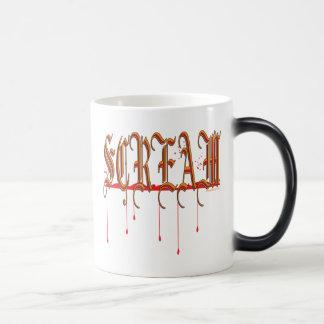 SCREAM Bloody Halloween 11 Oz Magic Heat Color-Changing Coffee Mug
