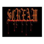SCREAM Bloody Halloween Post Card