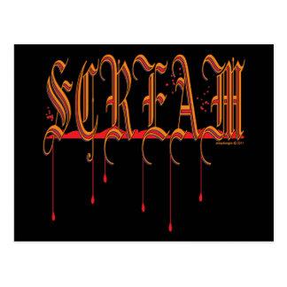 SCREAM Bloody Halloween Postcard