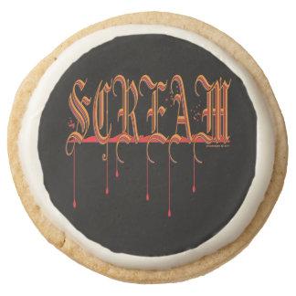 SCREAM Bloody Halloween Round Shortbread Cookie