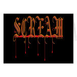 SCREAM Bloody Halloween Stationery Note Card
