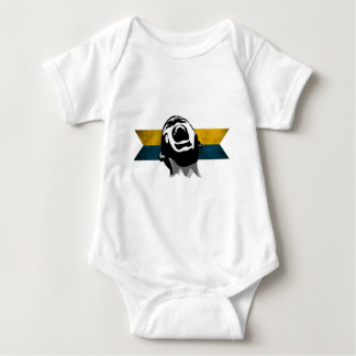 Scream Blue-Yellow Baby Bodysuit