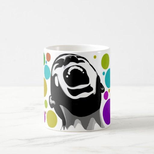 Scream dots coffee mug