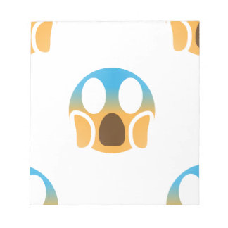 scream emoji notepad