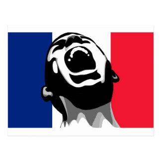 Scream for France Postcard