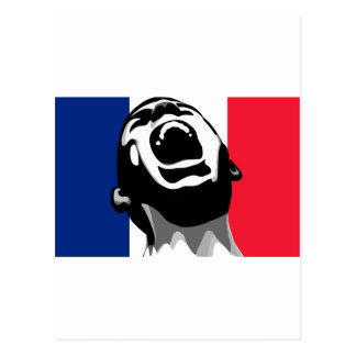 Scream for France Postcard