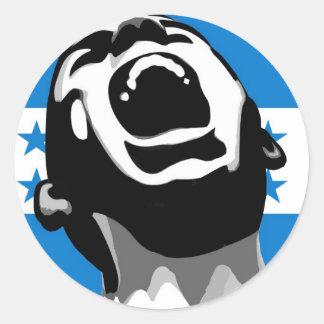 Scream for Honduras Classic Round Sticker