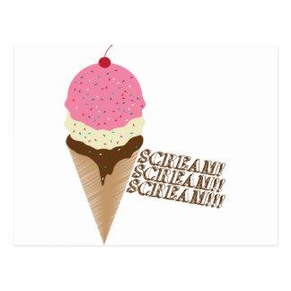 Scream for Ice Cream Postcard